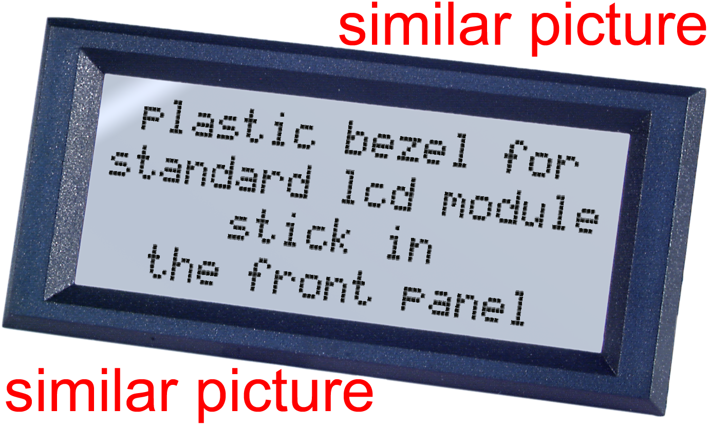 Bezel 131x38mm (240x64 px) Clear