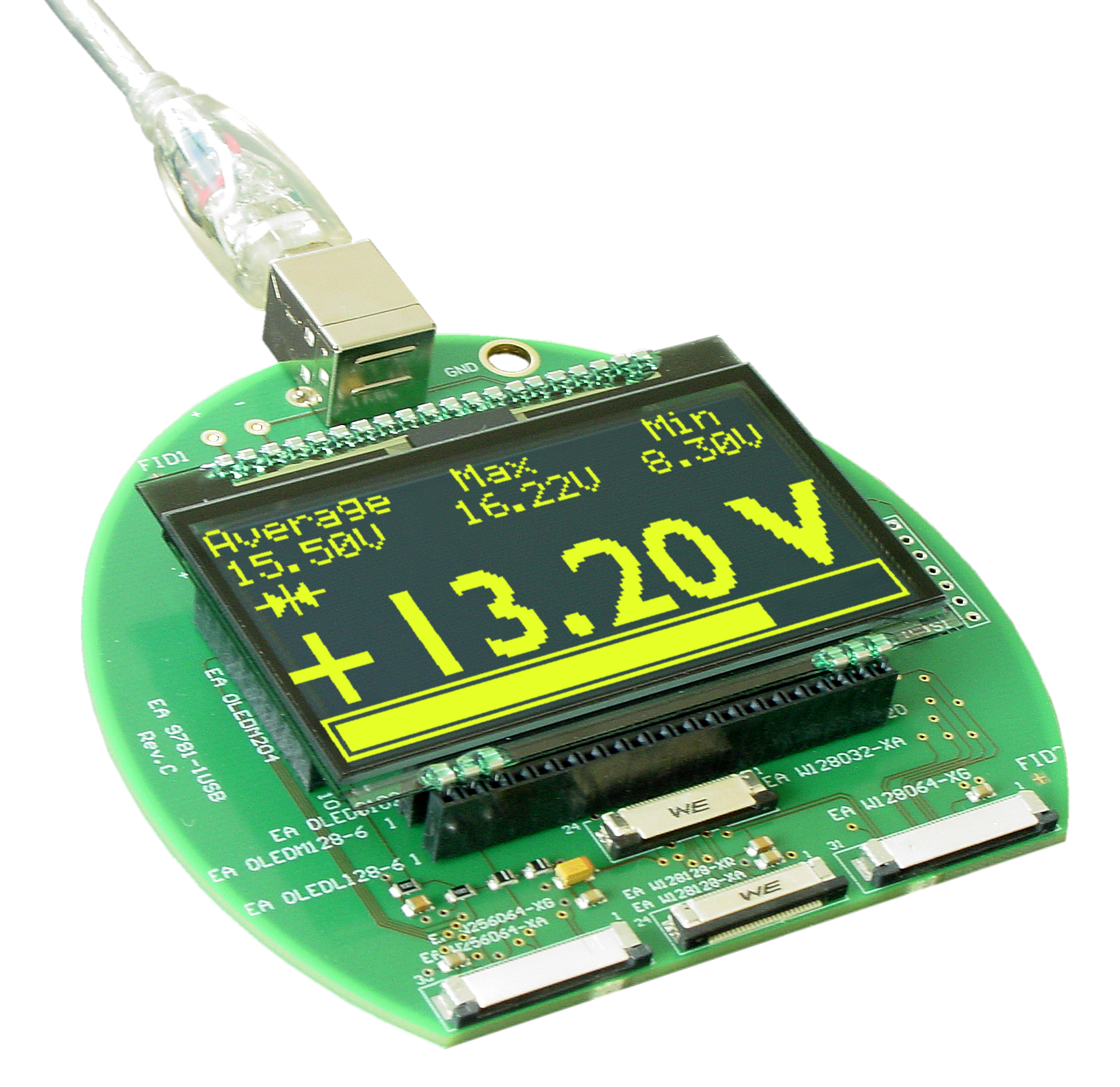 EA 9781-1USB Demo & test board for the EA OLED displays