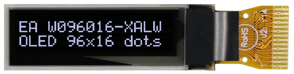 "96x16 nano OLED 0.8"" Graphic Display with I?C"