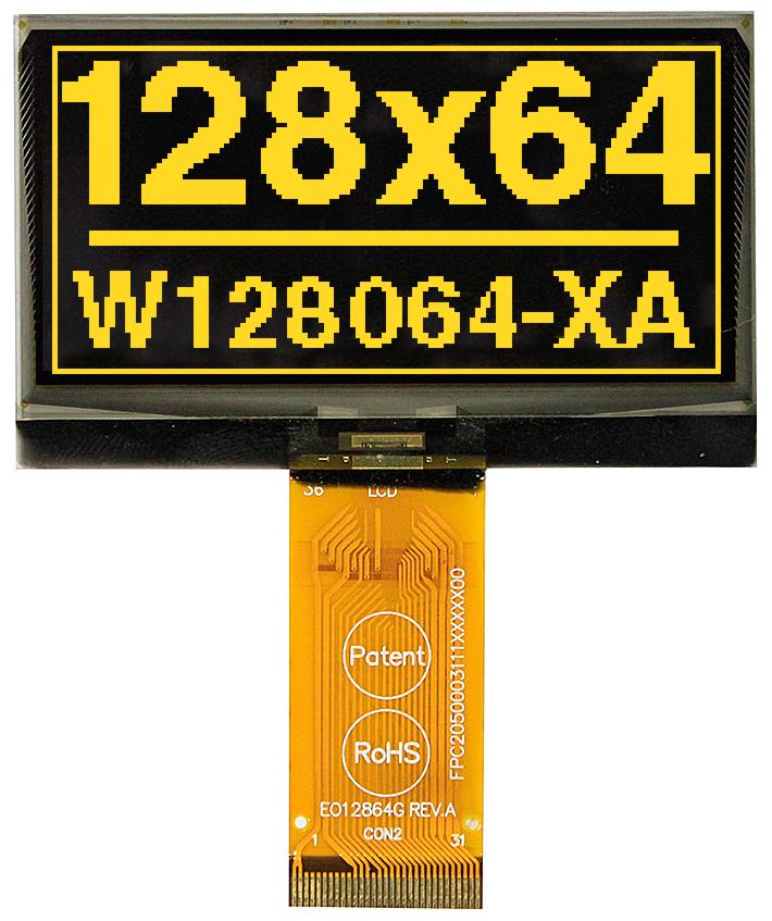 "128x64 mini OLED 2.4"" Graphic Display with I?C, SPI"