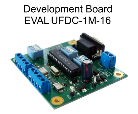 EVAL UFDC-1M-16 Evaluation board with RS232 Interface
